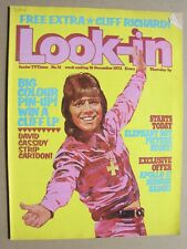 More details for 1972 look-in magazine december 16 no 51 cliff richard poster, apollo 17