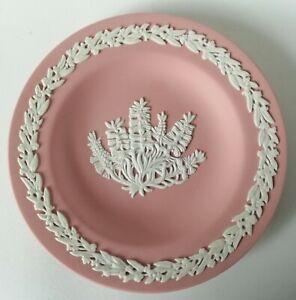 Wedgwood Pink Jasperware Australia Bottlebrush Miniature Plate