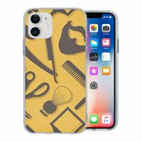 For Apple iPhone 11 Silicone Case Hipster Barber Grooming - S1163