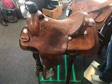 "Billy Cook Roping Saddle, 16"" Seat, FQHB, Good Condition"