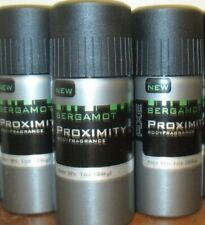 Lot of 3 Axe Proximity BERGAMOT Deodorant Body Spray 1 oz travel size