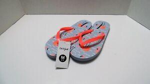 Flamingo Summer Girl Sandals Flip Flops Light Blue Size 2/3