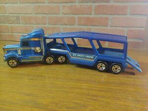 "Vintage 1981 Buddy L Corp. Blue 23"" ""Big Brute Sound"" Car Carrier"
