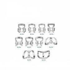 ISL Dental riparatoria Set di 10 gomma diga MORSETTI IN ACCIAIO INOX steel.ce