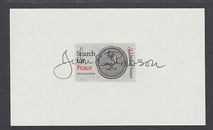 John E. Robson, Chairman Import Export Bank, served 4 US Presidents, signed card