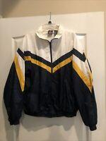 Vintage USA Olympics Windbreaker Jacket LARGE 42-44 JCPenney Blue & White Track