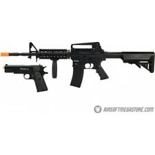 Sig Sauer Patrol Airsoft Gun Kit with M4 AEG Rifle and pistol and 7500 rd Black