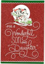 DISNEY MINNIE & MICKEY MOUSE SON & DAUGHTER-IN-LAW  Hallmark Christmas Card MG25