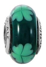 Authentic Pandora Sterling Silver KISS ME I'M IRISH Murano glass charm