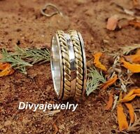 Solid 925 Sterling Silver Spinner Ring Meditation Ring Statement Ring 1031