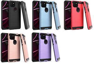 For T-Mobile TCL REVVL 5G T790W T790Z Metallic Brush Case Phone Cover