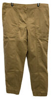Garnet Hill Khaki Chino Jogger Crop Pants 14 EUC