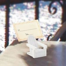 36 White Adirondack Beach Place Card Holder Wedding Bridal Shower Party Favors