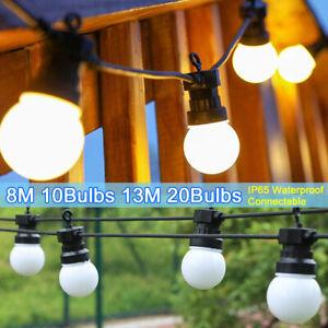 13M 20Bulbs LED Globe Ball Festoon String Light G50 Bulb Garden Outdoor Party