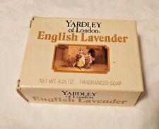 New YARDLEY OF LONDON ENGLISH LAVENDER FRAGRANCED SOAP 4.25OZ Nature Bar 1979
