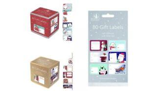 TALLON 80 Self Adhesive Christmas Gift Tags Gift Labels (2917)