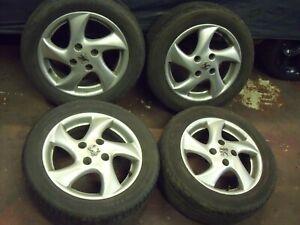 "Peugeot 206 106 306 15"" inch alloy wheels 6J ET28 with 195x55x15 tyres #2"