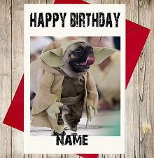 Personalizado Divertido Yoda carlino Star Wars Tarjeta Cumpleaños - Daughter