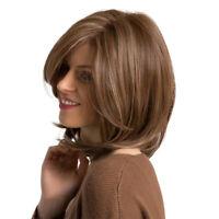 Fashion Women Real Natural Short Straight Hair Wigs Bob Wig Cosplay Costume
