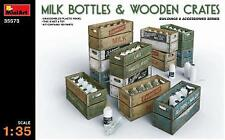 Miniart 1/35 Milk Bottles & Wooden Crates # 35573