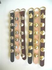 Sleigh Bells With Real Leather Strap Hand Made Hanger Door By Ranch Land