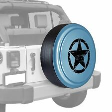 Oscar Mike Star - Painted  Tire Cover - Jeep Wrangler - Winter Chill