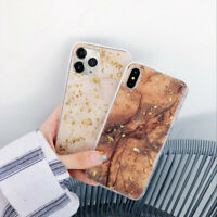 For iPhone 11 Pro XS Max XR 8 7 Marble Shockproof Silicone Protective Case Cover