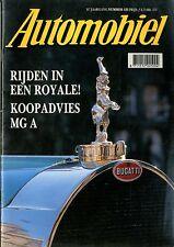 1990 HET AUTOMOBIEL MAGAZIN 125 BUGATTI ROYALE MG A MAZDA COSMO NIEDERLANDISCH