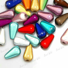 30g Approx 40pcs 3D Illusion Mixed Teardrop Miracle Smooth Arcylic Beads AR0402