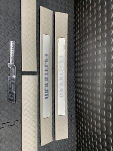 2009 thru 2014 Platinum F-150 OEM  Ford Door Sill Scuff Plate Protectors 4pc