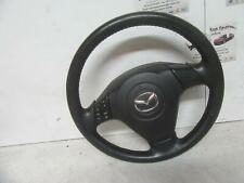 MAZDA 3 STEERING WHEEL BK, LEATHER, STANDARD TYPE, 01/04-04/09 04 05 06 07 08 09