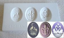 Ceramic Mold  - Victorian Cameos - Polymer Clay, Ceramic or Porcelain Slip