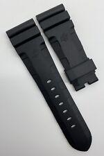Authentic Officine Panerai 26mm x 22mm Accordion Black Rubber Strap Band OEM