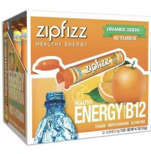 Zipfizz Healthy Energy 12 Tubes Orange Soda (no box only the product)