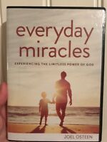 BRAND NEW~JOEL OSTEEN CHRISTIAN MINISTRIES~EVERYDAY MIRACLES~3 CD/DVD SET/SERIES