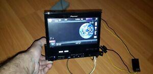 """PIONEER AVH-P5200BT 7""""FLIP UP DVD USB SD BLUETOOTH Multimedia Head Unit."""