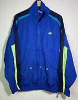 VTG Nike 1/2 Zip Color Block 3 Pocket Kangaroo Pouch Windbreaker Jacket - XL