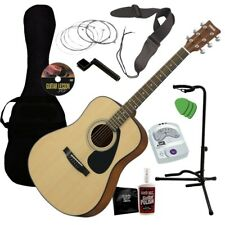 Yamaha GigMaker Acoustic Guitar Starter Pack - Natural GUITAR ESSENTIALS BUNDLE