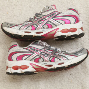 Women's Asics Gel Nimbus 11 Running Athletic Shoes Size 7 Seven T991N Laces Up