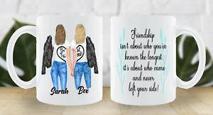 FREE POSTAGE BEST FRIEND PERSONALISED MUG CUP CHANGE HAIR  FRIENDSHIP BFF BESTIE