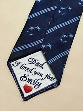 Father of the Bride Wedding tie patch embroidered dad wedding gift from bride
