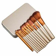 12pcs KABUKI PROFESSIONAL Make up Brushes Set Powder Foundation Blusher Iron box