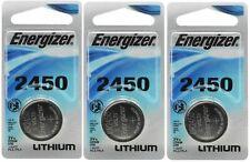 3 x Super Fresh Energizer CR2450 ECR 2450 3v LITHIUM Coin Cell Battery Exp. 2029