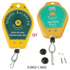 Durable Retractable Spring Balancer Steel Wire Rope Measuring Tool Hook Holder