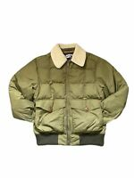 Men's Lands' End Waterproof Jacket Quilted Size Small 34-36 Army Green Lining