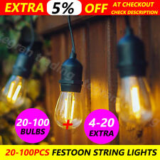 20-100PCS Festoon String Lights Kits Christmas Wedding Party Home Indoor/Outdoor