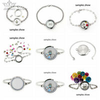 30mm stainless steel Living Memory Glass bracelet Locket  fit Floating Charms