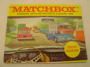 1969 MATCHBOX LESNEY SAMMLER KATALOG DEUTSCHE AUSGABE ZWEITE AUSGABE