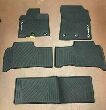 LEXUS LX570 2013-2020 5 PCS BLACK ALL WEATHER MATS WITH 3RD ROW PT206-60120-20