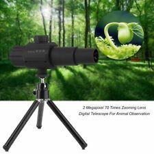 Digital Usb Telescope Monocular Adjustable Scalable Camera Zoom 70X Hd 2.0Mp Kit